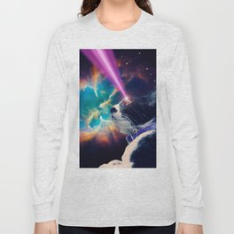 Neko San in Space Long Sleeve T-shirt