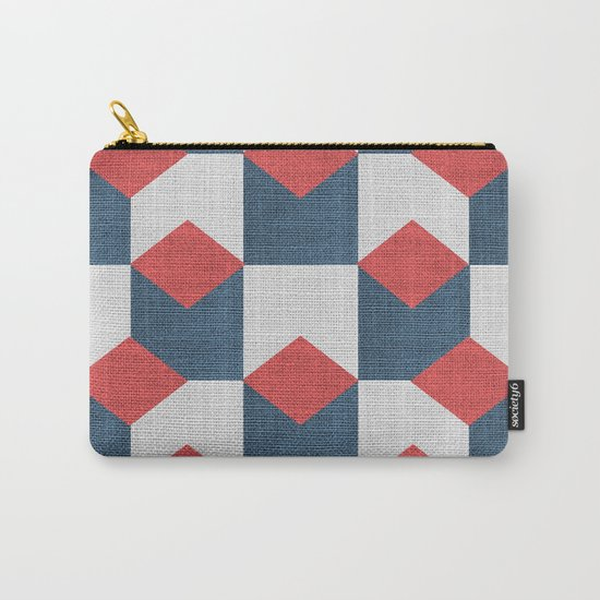 WOVEN GEOMETRIC PATTERN Carry-All Pouch