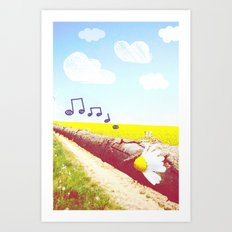Sunshine & Melody Art Print