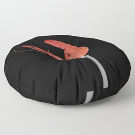 Fork with shrimps black Floor Pillow