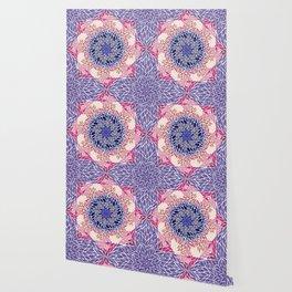 Flower Swirl - Purple Wallpaper