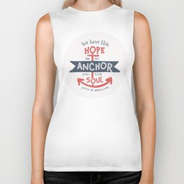 """Anchor for the Soul"" Hand-lettered Bible Verse Biker Tank"