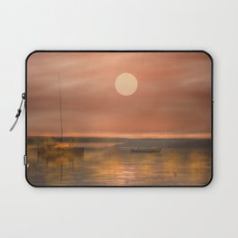 Boats in the fog Laptop Sleeve