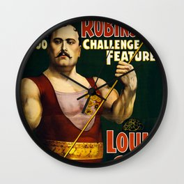 Louis Cyr, Strongest Man on Earth Wall Clock