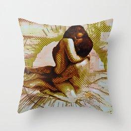 Embers Remix Throw Pillow