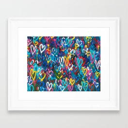 Graffiti Hearts Love (Color) Framed Art Print