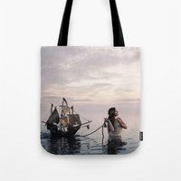 neverland Tote Bags featuring Finding Neverland by Mila Photographie