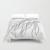 jelly fish Duvet Covers featuring Jelly by Little Mama
