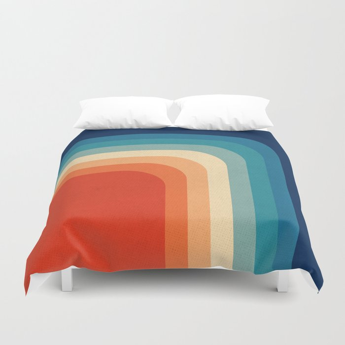 Retro 70s Color Palette Iii Duvet Cover By Alisagal Society6