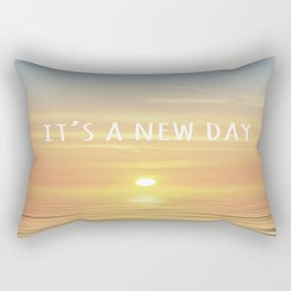 It's A New Day (Typography) Rectangular Pillow