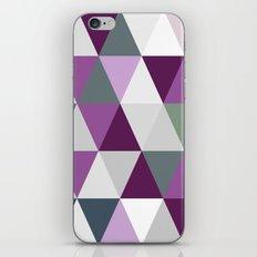 Big triangles lilac iPhone Skin
