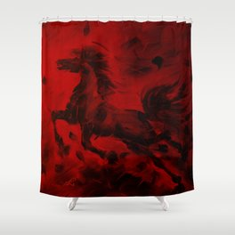 HORSE - RED Shower Curtain