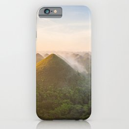 Panoramic landscape of the Chocolate Hills in Bohol | The Philippines travel photography iPhone Case