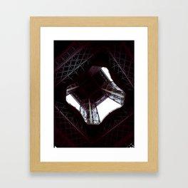 UNDER THE SKIRT OF THE EIFFEL TOWER. Framed Art Print
