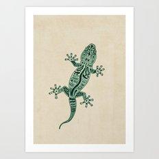 Ornate Lizard Art Print