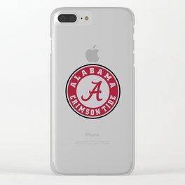 Alabama Crimson Clear iPhone Case