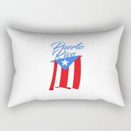 Big Puerto Rico Flag Rectangular Pillow