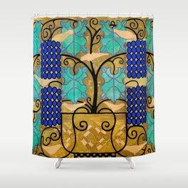 "Koloman (Kolo) Moser ""Vine tendrils, design for the altar frieze at the Steinhof Church in Vienna"" Shower Curtain"
