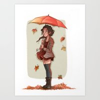 laia Art Prints featuring Autumn by Laia™