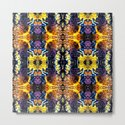 Mystic Yellow Blue Ornament Pattern by costa