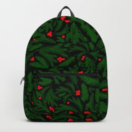 A Piny Kind of Christmas in Pine Green Backpack