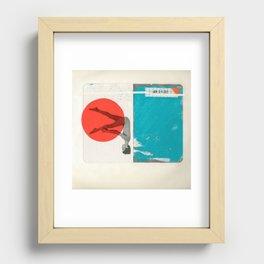 Red Dot Recessed Framed Print