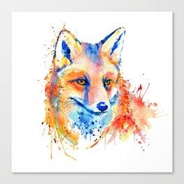 Cute Fox Head Canvas Print