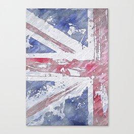 Rustic Union Jack Flag Canvas Print