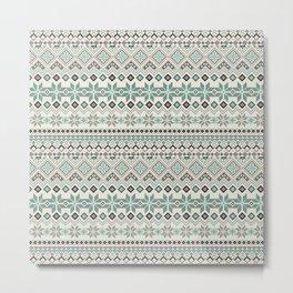 V40 Boho Vintage Anthropologie Pattern Metal Print