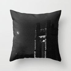 Moon and Tower Throw Pillow