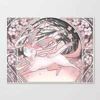 sylveon Canvas Prints featuring Sylv by Weissidian