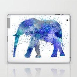 Blue Watercolor Elephant Laptop & iPad Skin