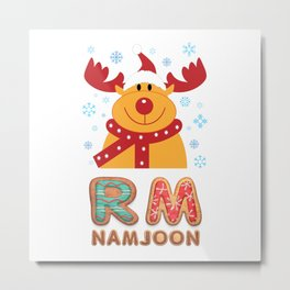 BTS member RM (Namjoon): Merry Christmas!! Metal Print