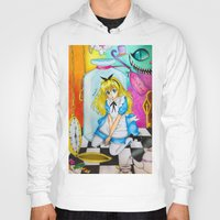 alice wonderland Hoodies featuring Wonderland by Amana HB