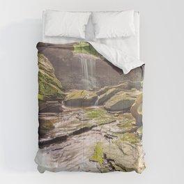 Photos USA Ohio Cuyahoga Valley National Park Nature Waterfalls stone Stones Comforters