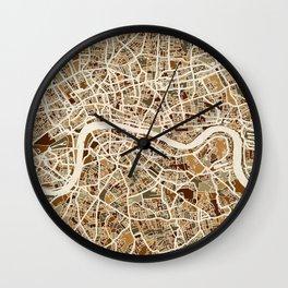 London England Street Map Wall Clock