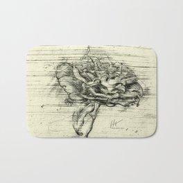 """Italian Courtyard Rose"" Bath Mat"