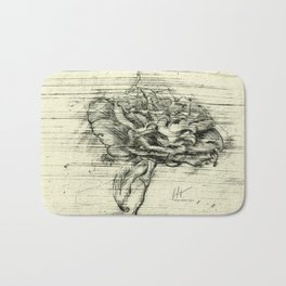 """Italian Courtyard Rose"" Bath Mat"
