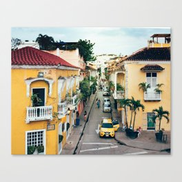 Colonial Architecture in Cartagena Canvas Print