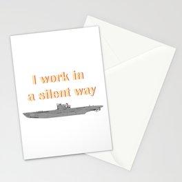 German Submarine Silent Introvert Stationery Cards