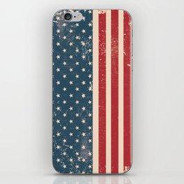 Vintage Distressed American Flag iPhone Skin