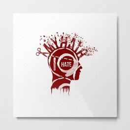 De Hater Metal Print