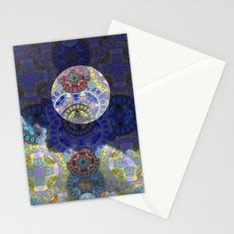 Hovering Moonscape Stationery Cards