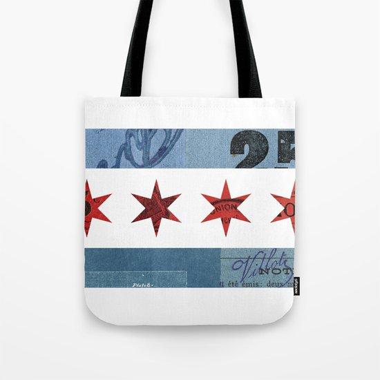 Ephemeral Chicago Flag Tote Bag