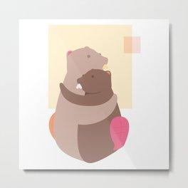 Beaver in Autumn Metal Print