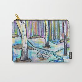 Early Spring in Birch Grove Carry-All Pouch