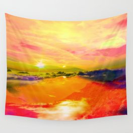 crazy sky  Wall Tapestry