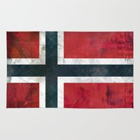 norway Area & Throw Rugs featuring Norway by Arken25