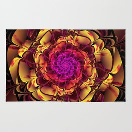 Beautiful Lantana Camara Sunrise Fractal Flowers Rug