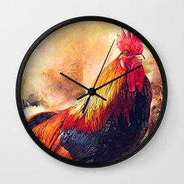 Rooster art #rooster #animals Wall Clock